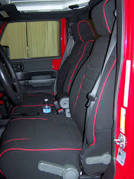 jeep wrangler full piping seat covers front seats 2007