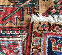 front and back of a hand knotted rug