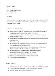 Network Engineer Resume Examples Network Engineer Resume Template