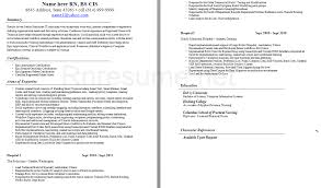 Registered Nurse Resume Sample Format Nursing Resume Sample Writing