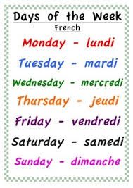 French Days Of The Week Jours Et Temps Lessons Tes Teach