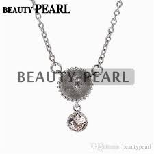 dangle with one zircon pendant necklace blank for pearl 925 sterling silver chain base uk 2019 from beautypearl gbp 26 39 dhgate uk