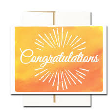 word of congratulations boxed business congratulations note card sunburst