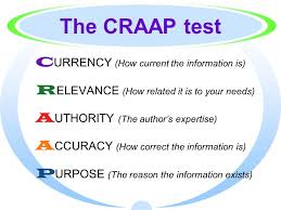 Craap Test Evaluating Your Sources