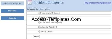 Incident Report Template Access Database And Templates