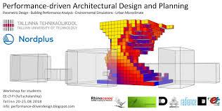 Parametric Design Workshop 2018 Rhino News Etc Performance Driven Architectural Design