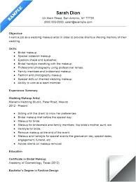 Freelance Makeup Artist Resume Wedding Makeup Artist Resume Sample