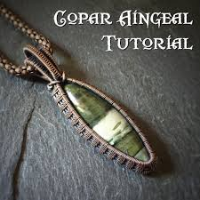 tutorial fern weave pendant wire wrapping jewelry pattern marquise cabochon wire wrapped