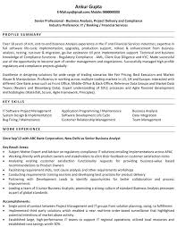Business Resume Examples Enchanting Sample Senior Business Analyst Resume Business Analyst R Superb
