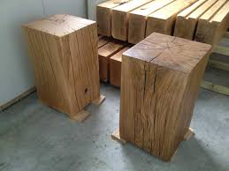 oak side table. Our Large Oak Pedestal Side Table In Clear And Dark Finishes