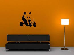panda wall sticker on panda wall art uk with panda wall sticker decal wall stickers uk