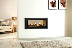 gas and electric fireplaces surprising two sided electric fireplace insert in modern decoration design with two
