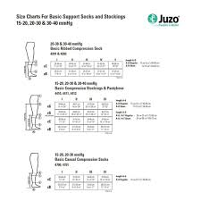 Compression Socks Sizes Chart Juzo Basic Knee High Compression Stockings