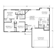 single story open floor plans single story plan 3