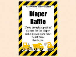 raffle sign diaper raffle ticket diaper raffle card diaper raffle printable