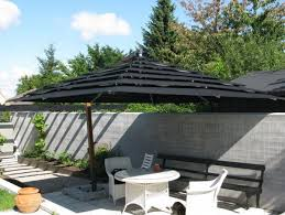 cantilever patio picturesque patio solar shades outdoor from rhino black canvas