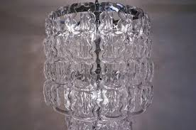 angelo mangiarotti style chandelier murano glass chain link chrome frame in excellent condition for