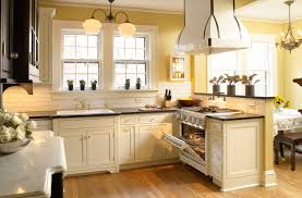 Rating Kitchen Cabinets Cream Kitchen Cabinets With Black Countertops Design Decorating