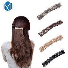 <b>M MISM</b> 1 pc Elegant Women Shiny Acrylic Hairgrips Girl's Hair ...