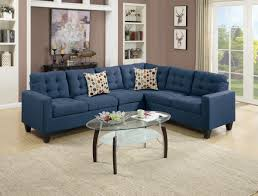 F6938 Navy Blue Sectional Sofa Poundex As Well As Stunning Navy Blue  Sectional Sofa (View