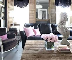 full size of design living room with black sofa frady and red faux leather modern couch