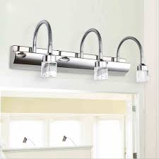 crystal bathroom light fixtures stainless steel led bath vanity wall sconces light indoor led light aluminum