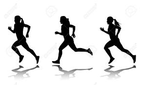 女子短距離選手のシルエット