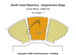 South Coast Repertory Segerstrom Stage Tickets In Costa