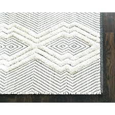 white rug runner tufted tribal hand woven black white area rug and rugs oaks off white