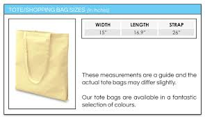 Tote Bag Tote Bag Size Guide