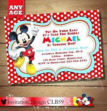 baby mickey mouse invitations birthday free printable mickey mouse invitations birthday mickey mouse