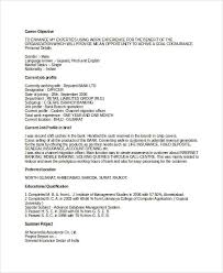 Objective For Resume For Bank Job Banking Resume Samples 46 Free Word Pdf Documents
