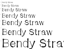 Font finder that helps you to identify fonts from any image. Free Font Bendy Straw By Shara Weber
