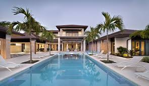 Luxury home swimming pools Above Ground Contemporary Luxury Home With Swimming Pool Idesignarch Custom Dream Home In Florida With Elegant Swimming Pool