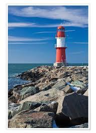 Leuchtturm An Der Küste Der Ostsee In Warnemünde Poster Online