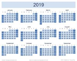 Download A Free 2019 Yearly Calendar Reverse Design From Vertex42