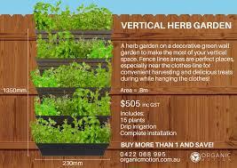 vertical vertical wall garden organic