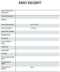 rent paid receipt format house advance payment receipt format drugaddictiontreatments club