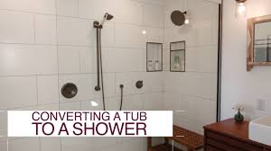how to convert a tub into a shower diy network