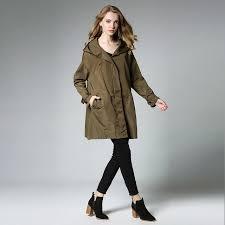 2017 waterproof winter coat fall fashion runway autumn jackets womens plus size windbreakers long green womens