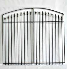 wrought iron fence gate. Wrought Iron Fence Gate - Center Divide 5 X 6w. Click To Enlarge
