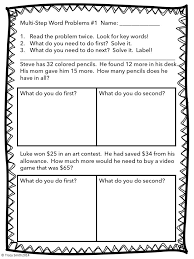 Multi-step Word Problems - Adding and Subtracting to 100 - Common ...