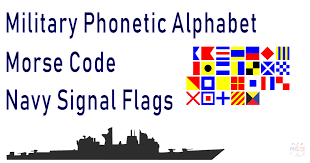 The nato phonetic alphabet or more formally the international radiotelephony spelling alphabet, is communications, along with also being adopted by all radio operators (military, civilian or amateur). Military Phonetic Alphabet Signal Flags