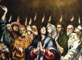 Resultado de imagen de venida del espiritu santo sobre los apostoles