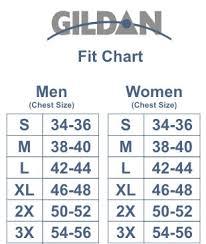 Gildan G200 Size Chart Usaf Defending America