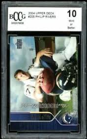 Maybe you would like to learn more about one of these? Upper Deck Rookie Football Trading Cards Philip Rivers For Sale Ebay
