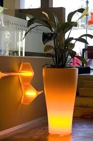 light outdoor garden pots by large nz with built in lighting