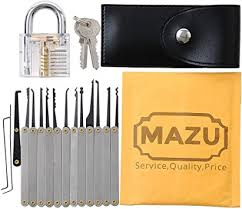 MAZU 15-Piece <b>Unlocking</b> Lock Pick <b>Set</b> Key Extractor <b>Tool</b> with ...