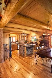 Best Type Of Kitchen Flooring Log Home Kitchen Design Yellowstone Log Homes