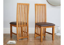 oak dining room chairs. cotswold brown leather solid oak dining room chairs